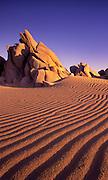Image of sand dune ripples and rock formations in Cabo San Lucas, Baja California Sur, Mexico