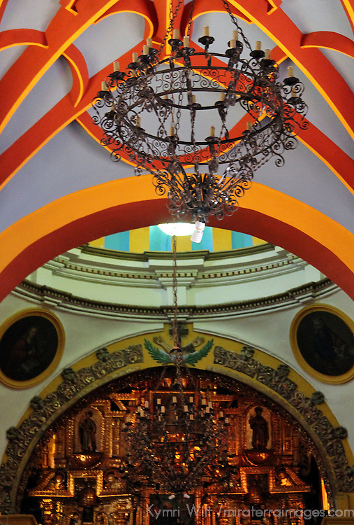 South America, Bolivia, Copacabana. Interior ceiling of the Basilica of Our Lady of Copacabana.