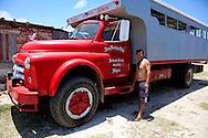 Man with his truck in Caletones, Holguin, Cuba.