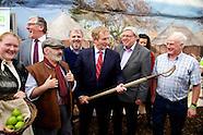 Taoiseach Enda Kenny at Gorta Stand at The National Ploughing Championships 2014.