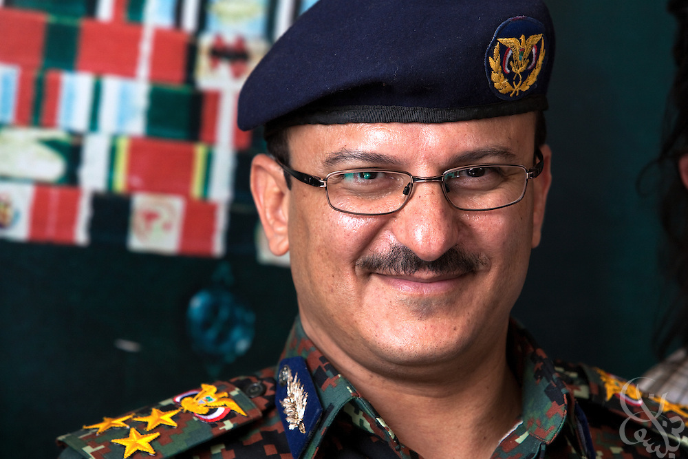 Brigadier General Yahya Mohammed Abdullah Saleh, Chief of Staff of Yemen's Central Security Forces addresses a group of press at the Central Security Forces Headquarters April 14, 2010 in the Yemeni capital Sana'a. Brig. General Saleh is the nephew of Yemeni President Ali Abdullah Saleh, and is in charge of Yemen's 50,000 + strong Central Security Forces under the Ministry of Interior.