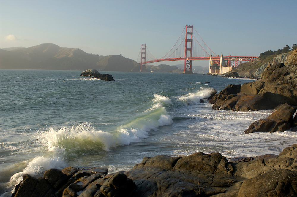 view to Golden Gate Bridge from Golden Gate National Recreation Area, San Francisco, California, United States of America