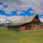 Mormon Row Barn - Grand Tetons, WY - Lensbaby