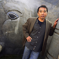 Haruki Murakami, born 1949,  Japanese contemporary fiction author / novelist / essayist. Photographed in Kagurazaka district of Tokyo, Japan. 14.12.2004 Murakami is author of noted books such as 'Norwegian Wood', 'A Wild Sheep Chase', 'Underground', 'After the quake' and 'Kafka on the Shore'.