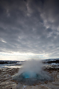 The Strokkur geyser erupting, at Geysir