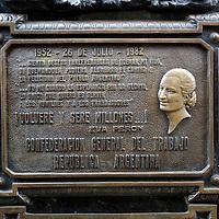 Evita Memorial, Cementerio de la Recoleta, Recoleta, Buenos Aires, Argentina