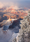 A winter storm clears from the Grand Canyon. Captured January 1, 2015.