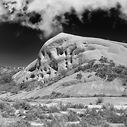 Mormon Rocks - Weathered And Eroded Sandstone - HDR - Infrared Black & White