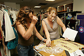 7/29/2005 - Tina Knowles Prepares Backstage at Destiny's Child Tour In New York City