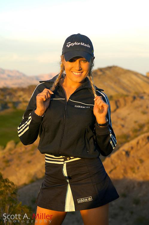 Portrait shoot with LPGA PLayer Natalie Gulbis at Lake Las Vegas Resort..©2006 Scott A. Miller