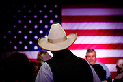 Cowboy hats were prevalent at a rally for GOP presidential candidate Mitt Romney in Elko, Nevada, February 3, 20112.