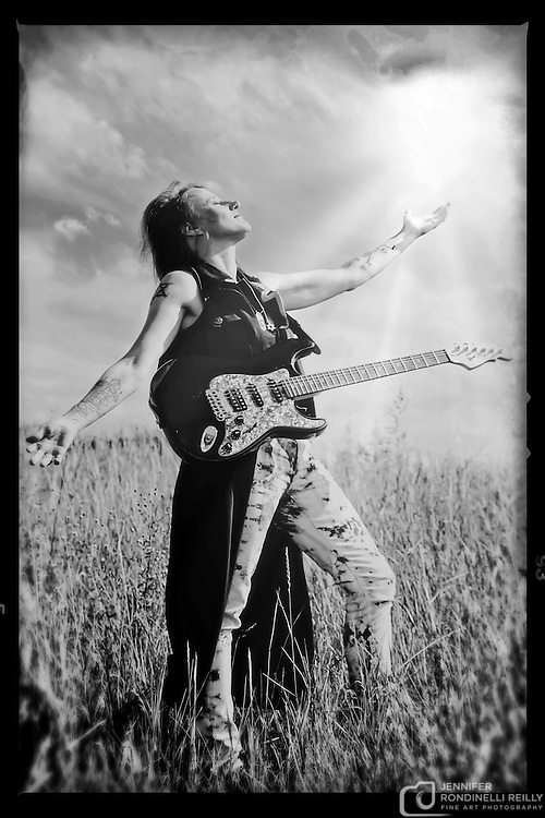 Portrait of guitarist Sue DaBaco.