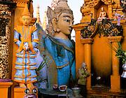 The Shwedagon Pagoda complex, Yangon, Myanmar
