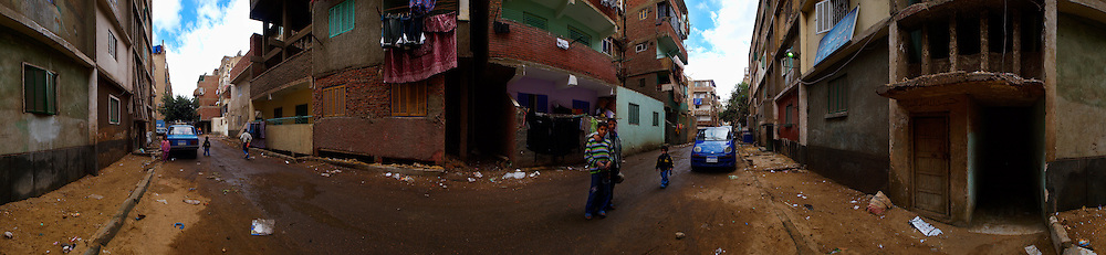 Street scene in Ein El Sira, Cairo, Egypt.
