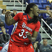 St. John's Forward Sandra Udobi (33) calls for the ball in the second half of a NCAA regular season non-conference game between Delaware (CAA) and St. John's (Big East) Monday, Dec 30, 2013 at The Bob Carpenter Sports Convocation Center in Newark Delaware.