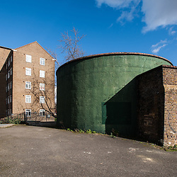 London, UK - 21 February 2014: the entrance to the Zero Carbon Food - Growing Underground tunnels.