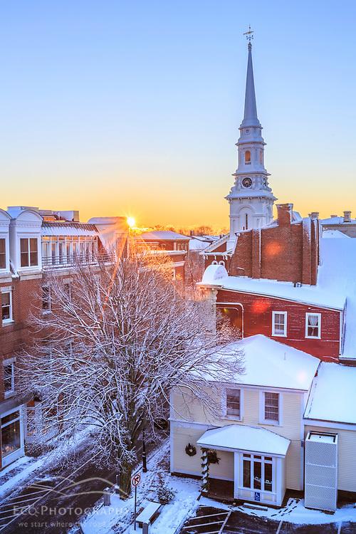 Winter sunrise in Portsmouth, New Hampshire.
