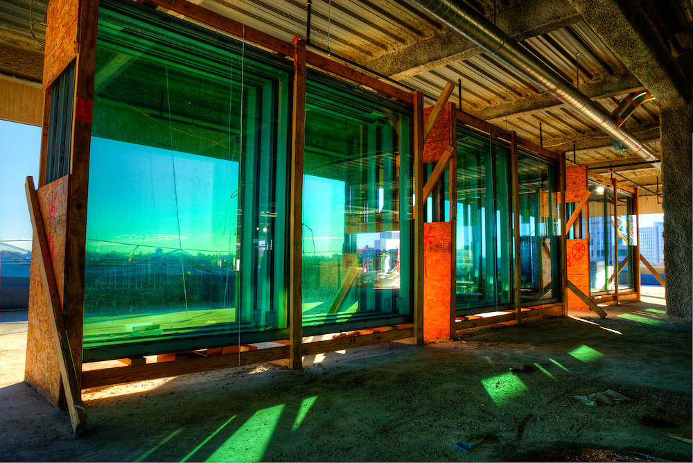 Windows ready cor installation in a commercail building