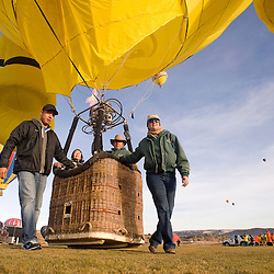 113012       Brian Leddy.The Bumpy Balloon team prepares for takeoff at Fox Run Golf Course Friday morning. The annual Red Rock Balloon Rally kicked off with beautiful weather and clears skies.