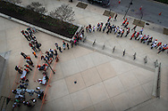 Fans line up during opening day at Oriole Park at Camden Yards in Baltimore, Monday, April 4, 2016.  The Baltimore Orioles defeated the Minnesota Twins 3-2.
