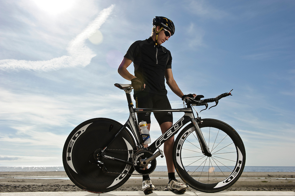 Magellan GPS | triathlete Tommy Zaferes cycling in Santa Cruz, CA