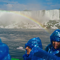 Maid of the mist. This world-famous scenic boat tour of the American and Canadian Falls is a spectacular half-hour ride. You access the tour via the Observation Tower elevator at Prospect Point in the state park.