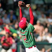 8/22/10 Aberdeen, MD: Mexico Gerardo Haro drops to his knees as Mexcio beats Ocala Florida at The 2010 Cal Ripken World Series in Aberdeen MD.