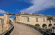 San Cristóbal fortress main entrance; San Juan National Historic Site, Old San Juan, Puerto Rico..