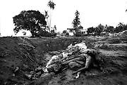 Mass grave of Tsunami victims. Lhoknga, Lamkruet. Aceh January 8 2005