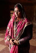 Indian woman at Akbar's Tomb,Agra,Uttar Pradesh,India<br /> Model release 0318