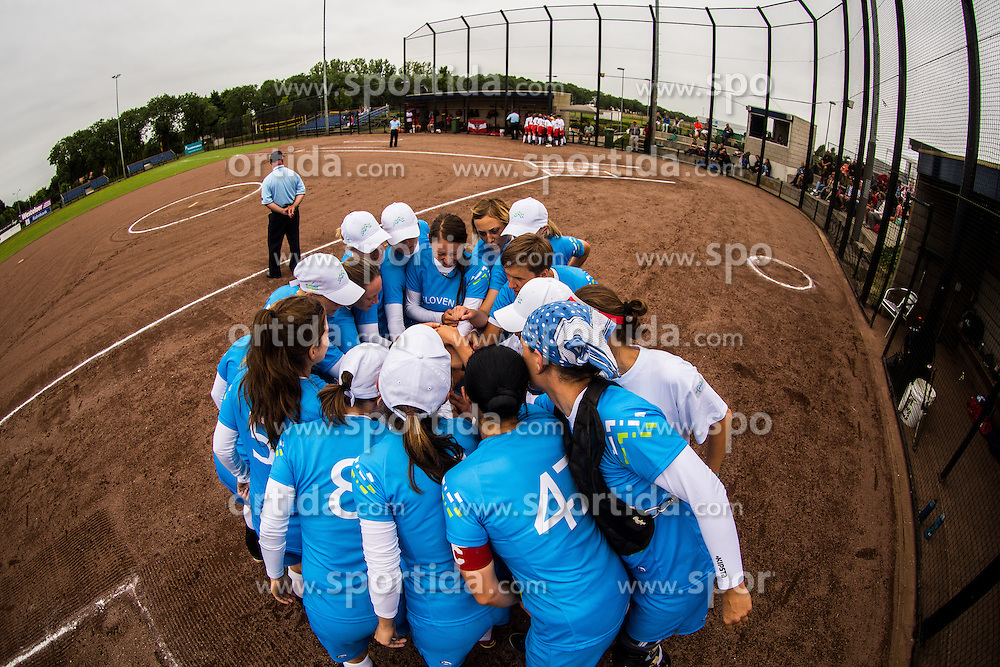 Slovenian national team during XIX European Softball Fastpitch  Championship Women, on July 20, 2015 in Rosmalen,  Netherlands. Photo by Grega Valancic / Sportida