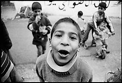 Children in the streets of Jenin.