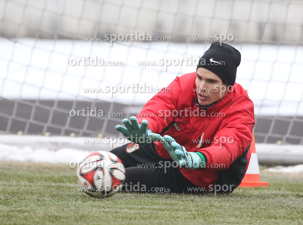 17.02.2015, Trainingsgel&auml;nde, Augsburg, GER, 1. FBL, FC Augsburg, Training, im Bild Marwin Hitz (Torwart FC Augsburg #35), // during a trainingssession of the german 1st bundesliga club FC Augsburg at the Trainingsgel&auml;nde in Augsburg, Germany on 2015/02/17. EXPA Pictures &copy; 2015, PhotoCredit: EXPA/ Eibner-Pressefoto/ Krieger<br /> <br /> *****ATTENTION - OUT of GER*****