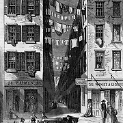 "Frank Leslie's Illustrated July 1, 1865; Poverty in New York City Slums; #38 Cherry Street ""A Source of Pestilence and Crime"" Tenement Interior cutaway view; Housing; Social Issues; Architecture"