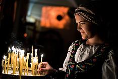 Christmas Eve Vigil in the Orthodox church of Via San Gregorio in Milan, Italy