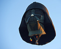 Darth Vader Hot Air Balloon. Albuquerque 2012 Balloon Fiesta. Image taken with a Nikon D4 and 70-200 mm f/2.8 VRII lens (ISO 100, 135 mm, f/4.5, 1/80 sec). Nikonians ANPAT-12 Day 1.