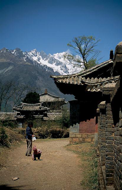 Près de Lijiang, région de Naxi...Près de Lijiang, région de Naxi.