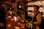 Bar Hiroki. The glasses in this 29 year old bar with the jazz music are all bakara glass