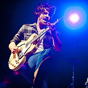 Kevin McKeown of Black Pistol Fire performs at Lou Fest in St. Louis.