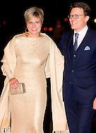 1-2-2014  ROTTERDAM NETHERLANDS  Princess constantijn en laurentien  arrives  for the celebration party for Queen Beatrix to thank her for being 33 years the Queen of the Netherlands COPYRIGHT ROBIN UTRECHT