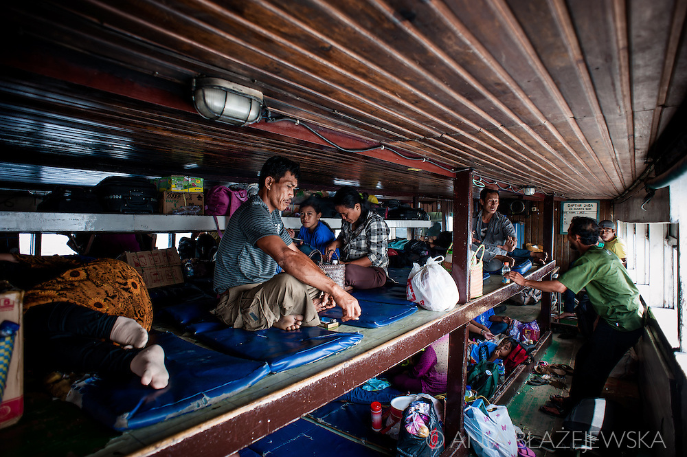 Indonesia, Sulawesi. On the ferry from Ampana to Wakai/ Togean Islands