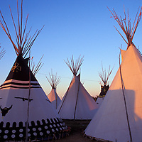 Blackfeet Tipi Camp, North American Indian Days, Browning, Blackfeet Indian Reservation, Montana, USA