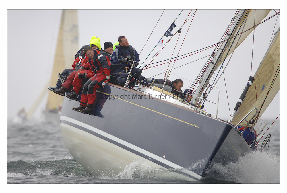 The second days racing at the Bell Lawrie Yachting Series in Tarbert Loch Fyne ...Strong winds, high seas and heavy rain dominated the day...GBR49R Blue Magic in Class one.