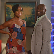 """ROSEWOOD: Pictured L-R: Guest star LeToya Luckett and Morris Chestnut in the """"Prosopagnosia & Parrotfish"""" episode of ROSEWOOD airing Thursday, Nov. 17 (8:00-8:59 PM ET/PT) on FOX. ©2016 Fox Broadcasting Co. CR: Lisa Rose/FOX"""