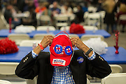 Rep. Alcee Hastings (D-Fla.) of DeRay Beach, Fla. waits for Democratic presidential candidate Hillary Rodham Clinton to speak at the Jim Clyburn Fish Fry, on Saturday, Jan. 16, 2016, at the Charleston Visitor Center in Charleston, S.C. (AP Photo/Stephen B. Morton)
