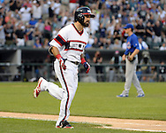 CHICAGO - JULY 26:  Adam Eaton #1 of the Chicago White Sox hits a home run against the Chicago Cubs on July 26, 2016 at U.S. Cellular Field in Chicago, Illinois.  The White Sox defeated the Cubs 3-0.  (Photo by Ron Vesely) Subject:    Adam Eaton