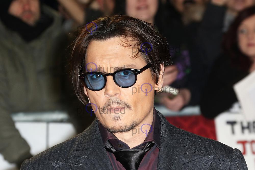 Johnny Depp, Mortdecai - UK film premiere, Leicester Square, London UK, 19 January 2015, Photo by Richard Goldschmidt