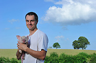 25/06/14 -BADAILLAC - CANTAL - FRANCE - Portrait de Benoit JULHES -Photo Jerome CHABANNE