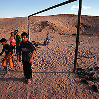 Boys play soccer in an empty lot in Gaza City. (Photo/Scott Dalton)