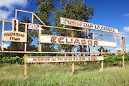 Farm sign in Baragua, Ciego de Avila Province, Cuba.